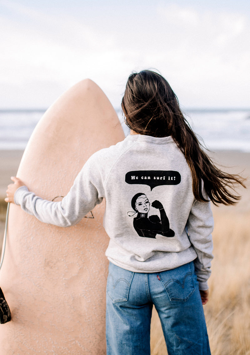 We Can Surf It Eco-Fleece Sweatshirt