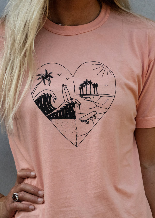 surf tee for women her waves