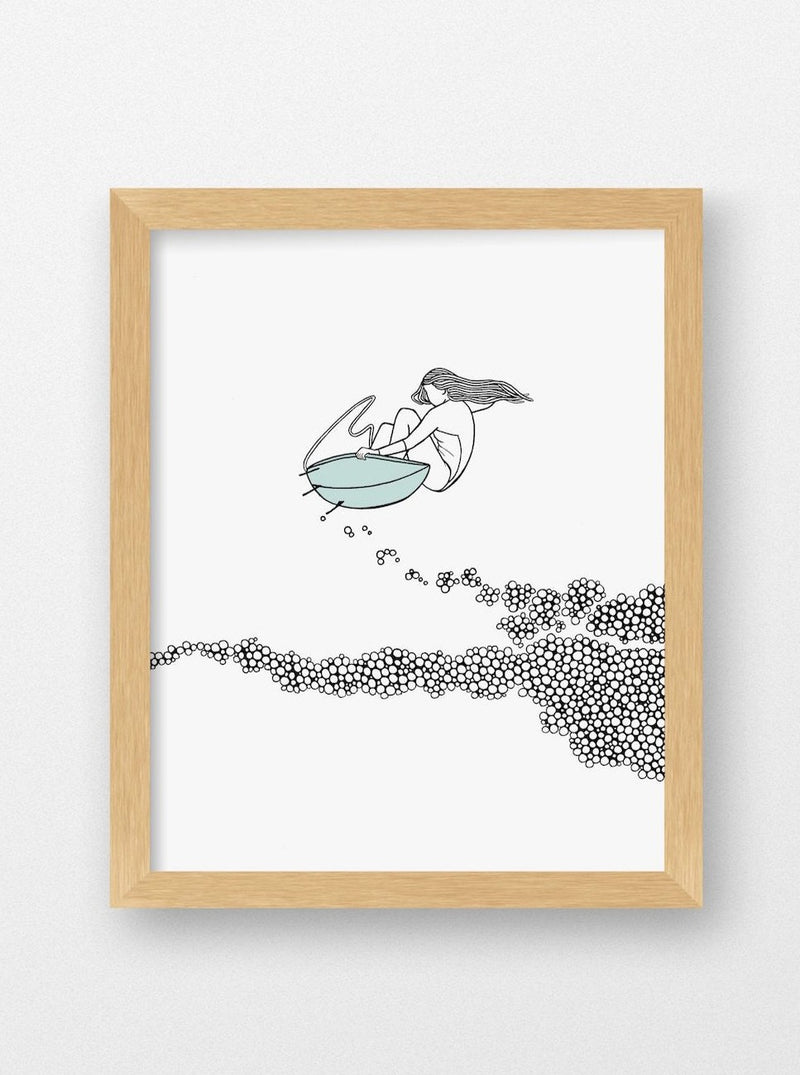 Meg Jacovino her waves surf art surfer print