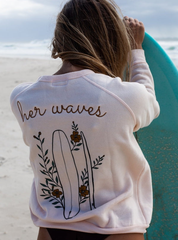 cozy surf sweatshirt for women