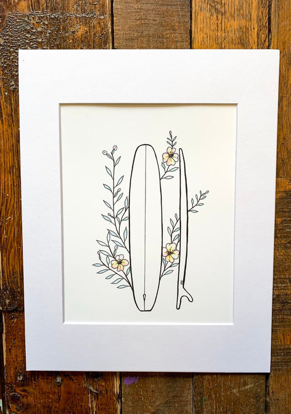 Flowers & Fins Print by Makenna Rae