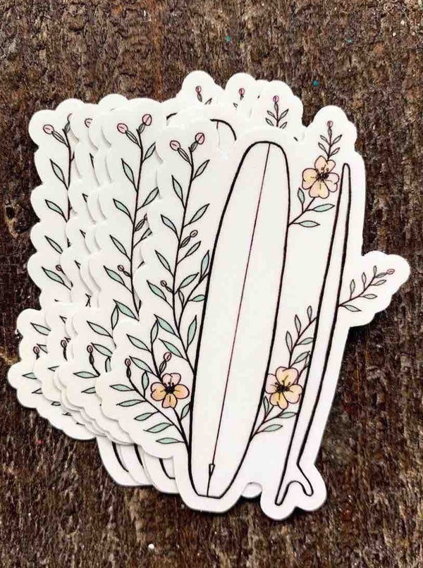 Flowers & Fins Sticker