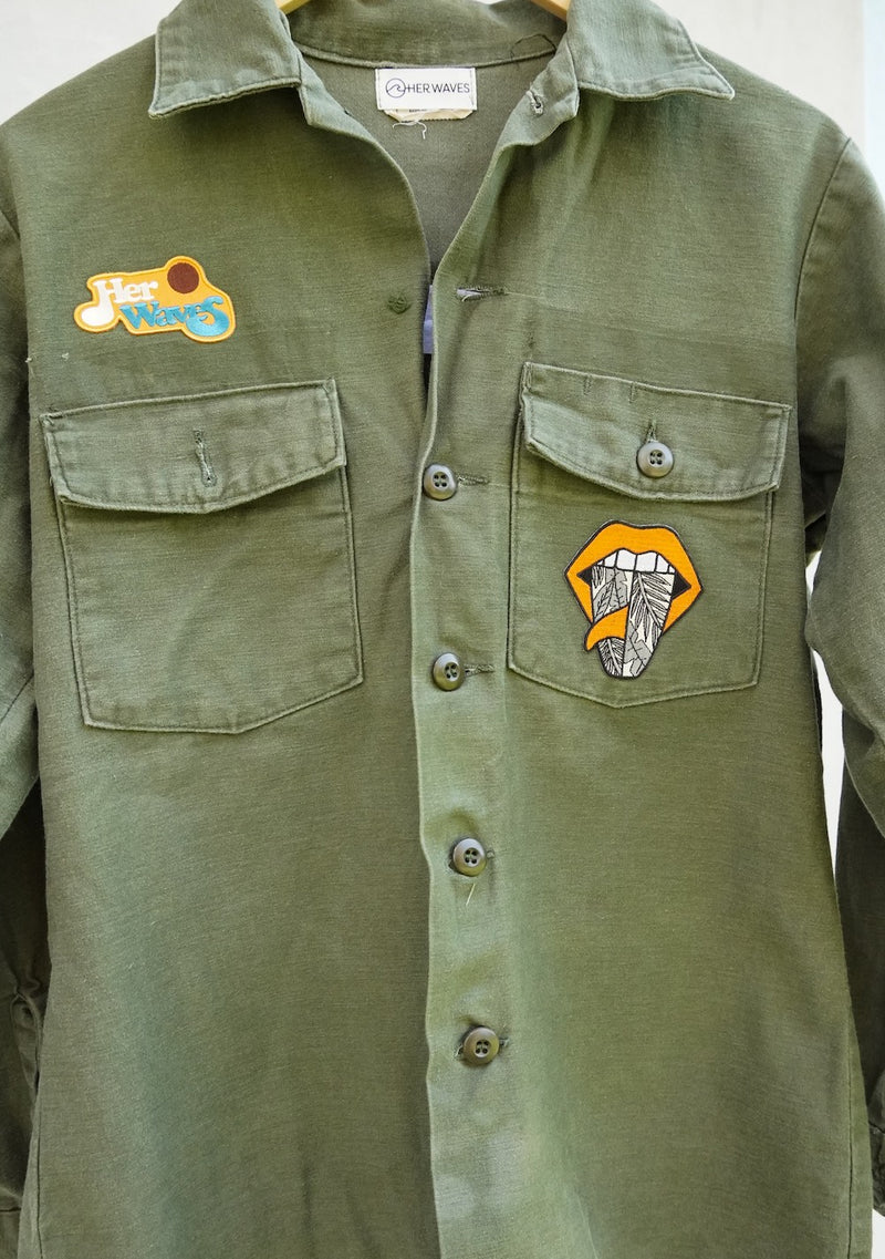 Swell Yeah Vintage Utility Jacket w/ Patches (large)