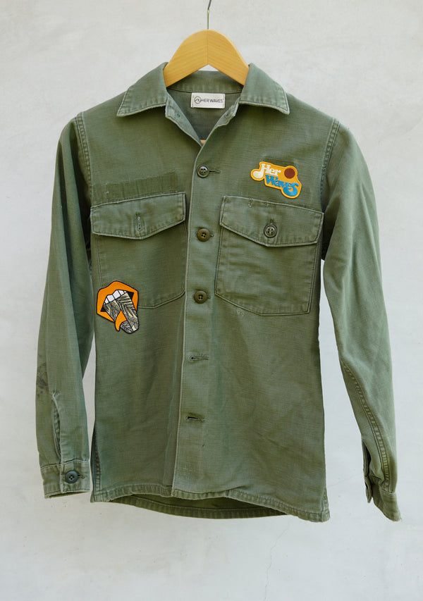 Swell Yeah Vintage Utility Jacket w/ Patches (xsmall)