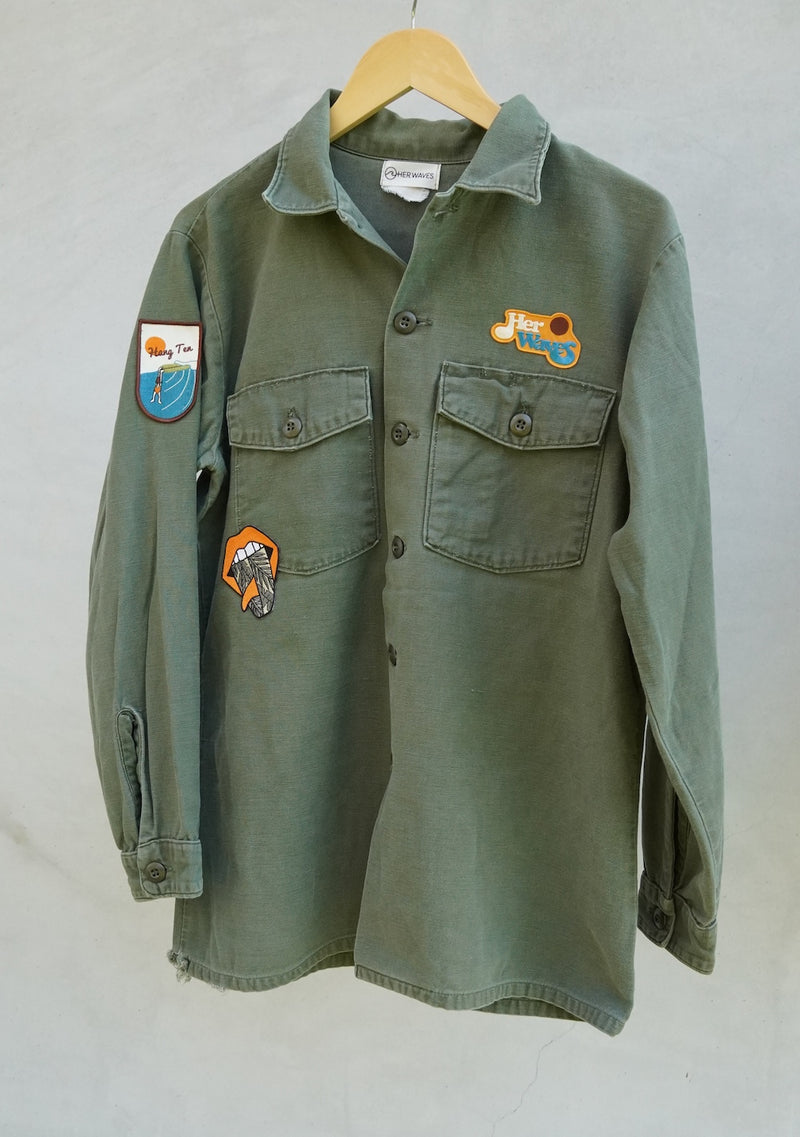 Swell Yeah Vintage Utility Jacket w/ Patches (xlarge)