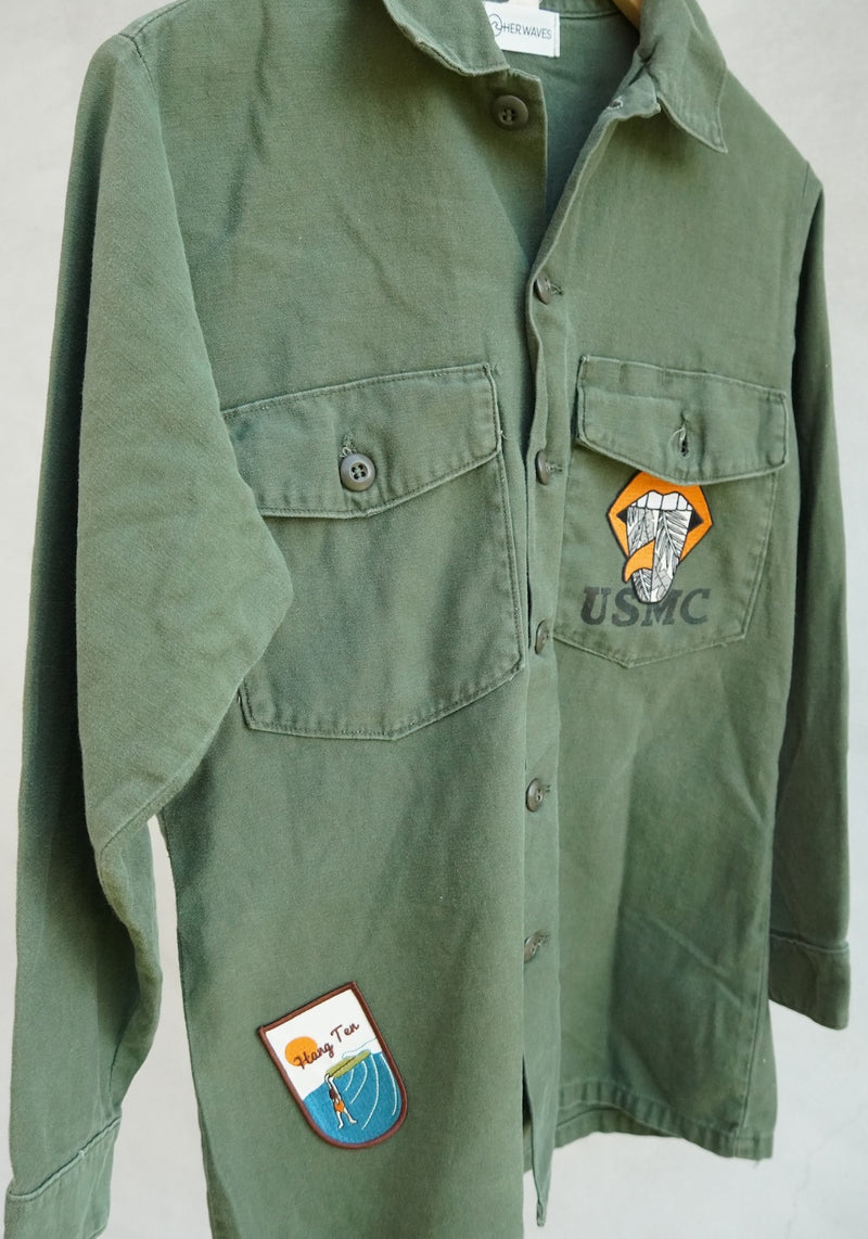 Swell Yeah Vintage Utility Jacket w/ Patches (medium)