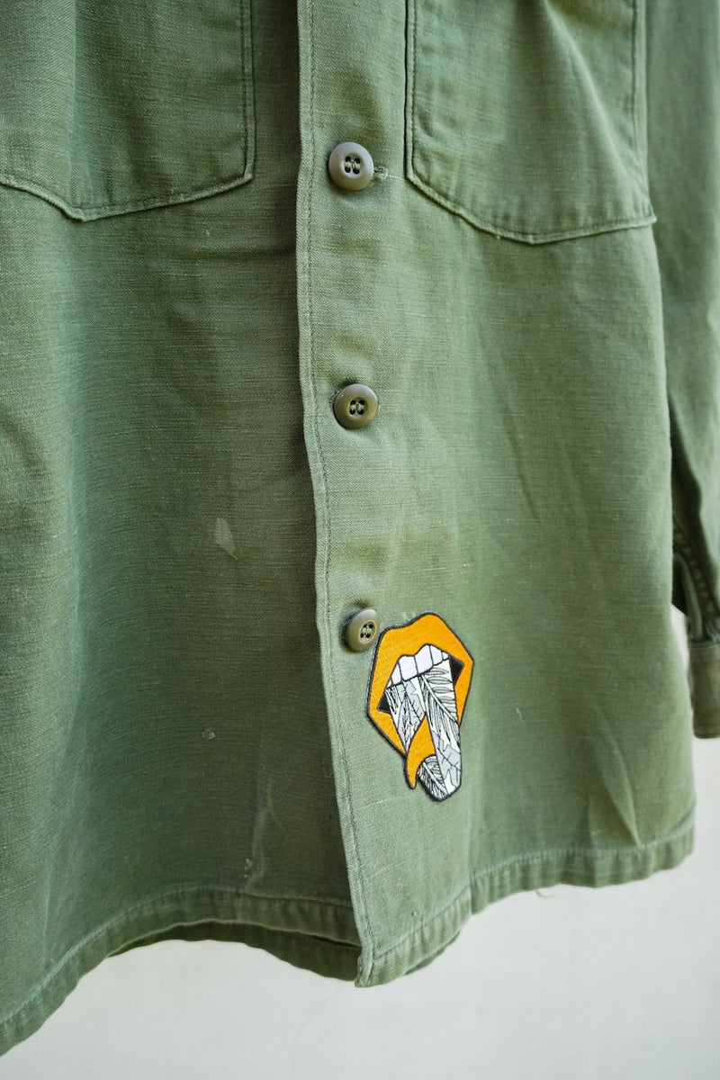 Swell Yeah Vintage Utility Jacket w/ Patches (small)