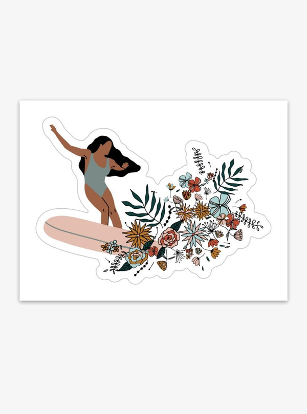 her waves surfer girl sticker