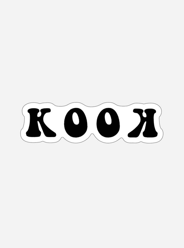 Her Waves Kook surf sticker