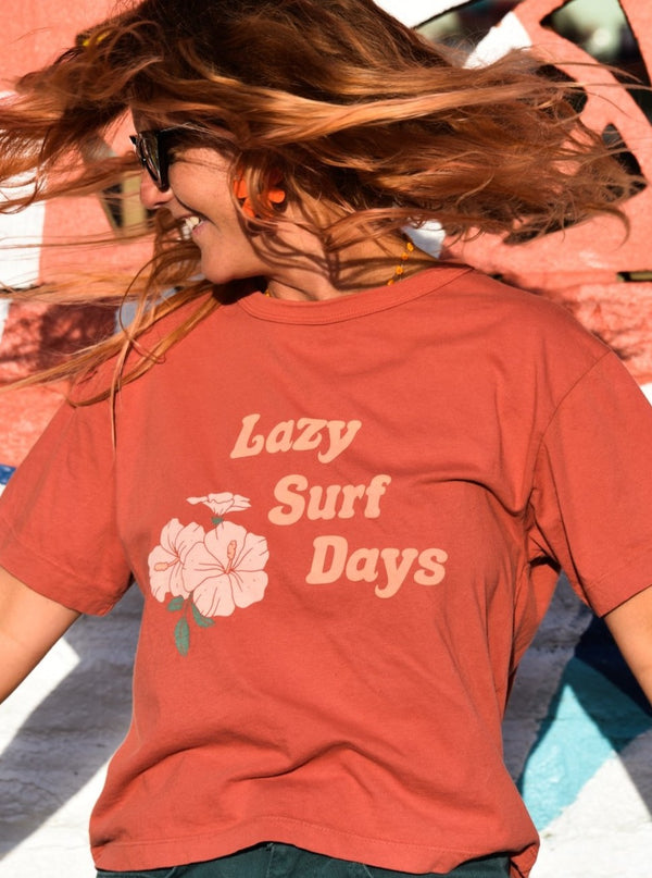Lazy Surf Days Organic Boxy Tee