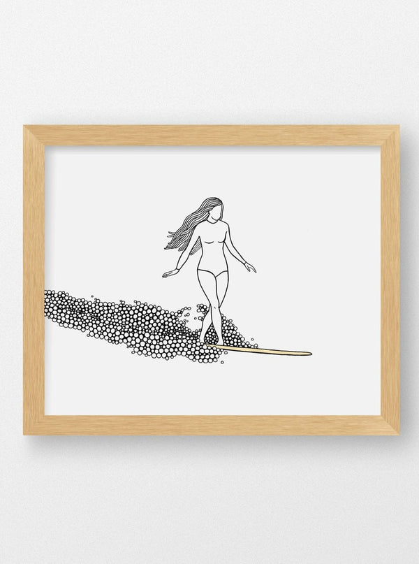 Her Waves surf print by Meg Jacovino surf illustrations