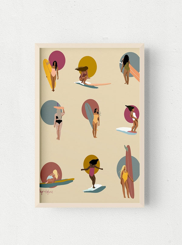 Sunset Queens Print