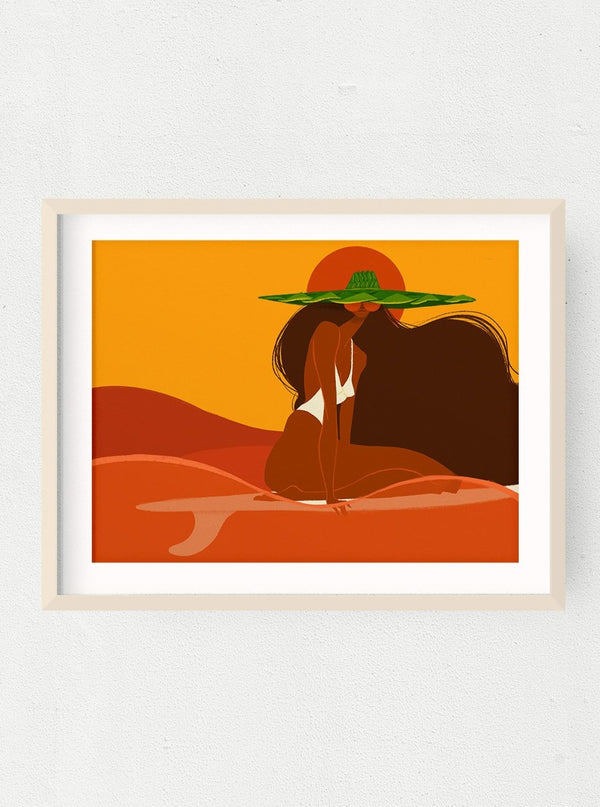 Sunset Surfer Print