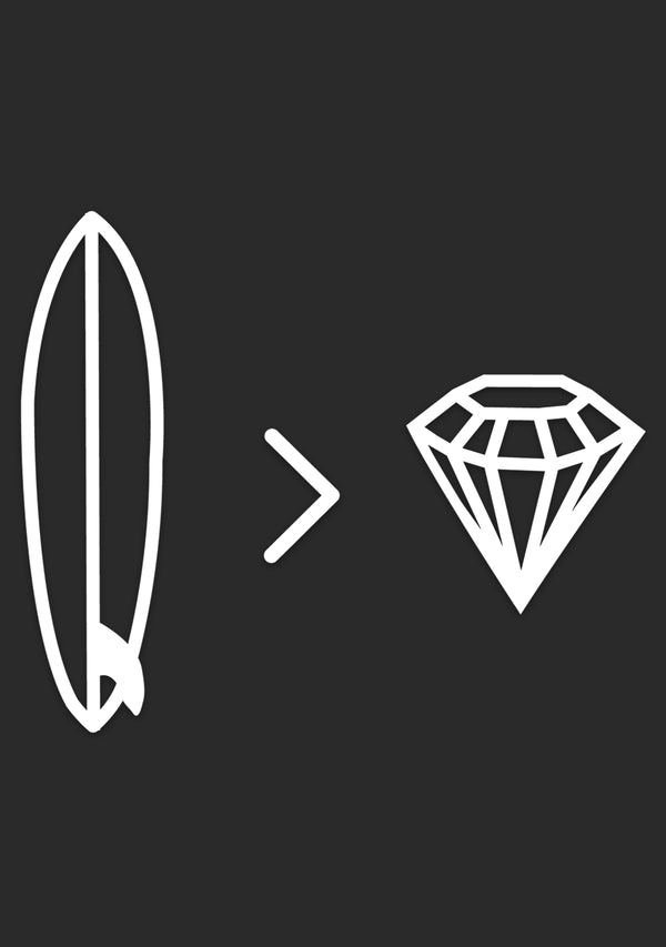 Surfboards > Diamonds | Window Sticker