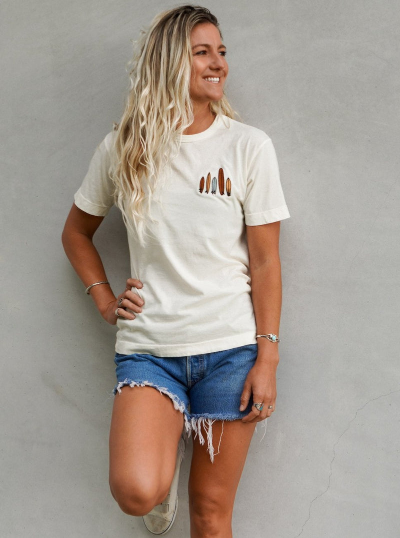 Her Waves so many shapes surf t-shirt