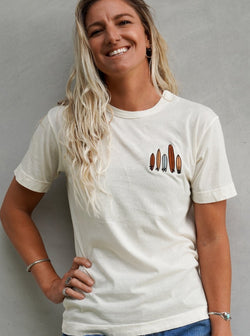 Her Waves so many shapes surf tee