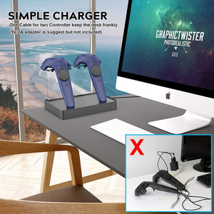 Dual Charger Charging Station/Stand for HTC VIVE/VIVE Pro Controllers