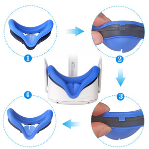 VR Face Silicone Cover & Face Pad for Oculus Quest 2
