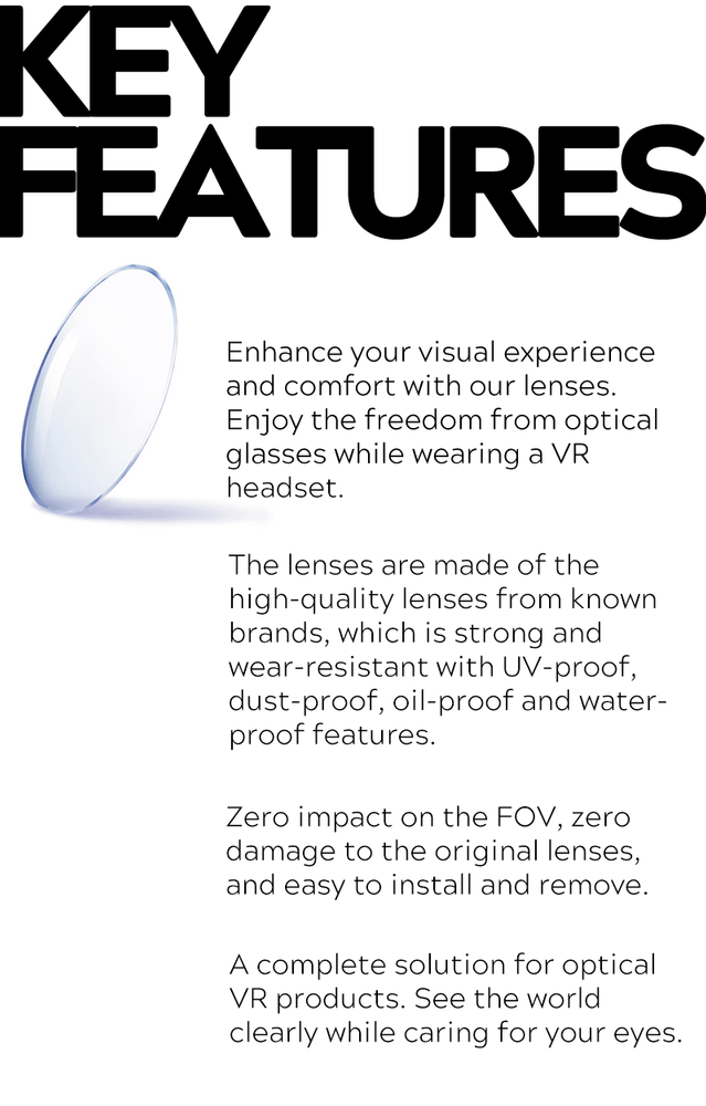 VR Frame with Prescription Lenses for HTC Focus [Customizable]