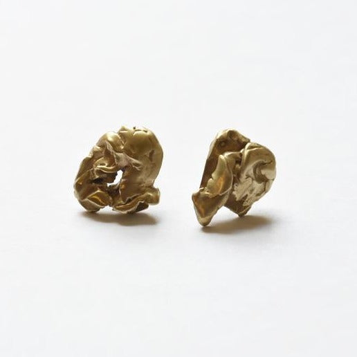 organic, studs, earrings, brass.