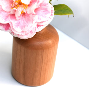 cherry wood bud vase