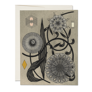 boxed set, stationery, cards, floral geometry.