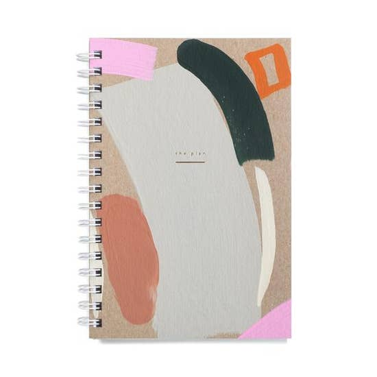 hand painted cover, weekly jotter, planner.