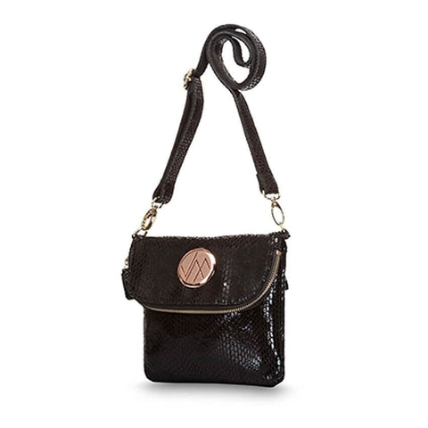 KRUISE Black Genuine Leather Women Crossbody Handbag - Total Wellness & Secret Wishes