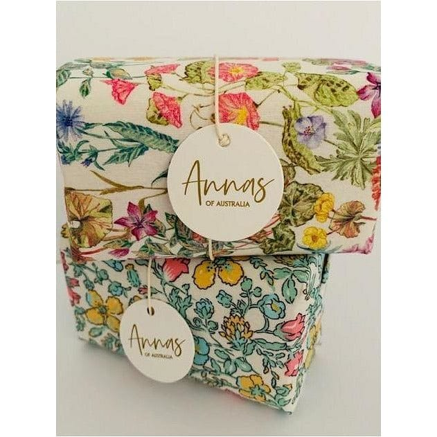 Anna's of Australia Liberty Fabric Wrapped Soap - Total Wellness & Secret Wishes