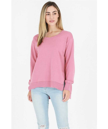 3rd Story Ulverstone Sweater - Tango Pink