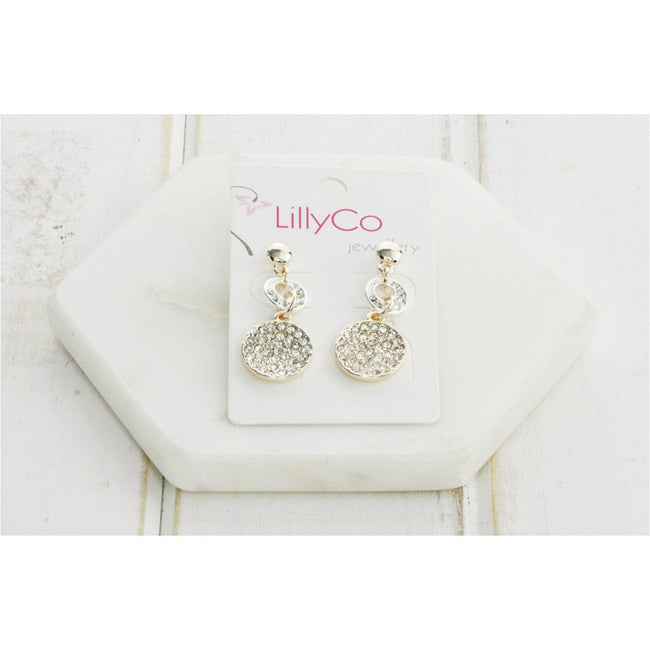 Mixed Silver & Rose Crystal Drop Earring - Total Wellness & Secret Wishes