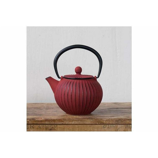 Teaology Cast Iron Teapot 500ml Imperial Red Tea Pot Kettle Filter - Total Wellness & Secret Wishes