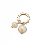 Palas Slv+brz+pearl double pearl charm on ring
