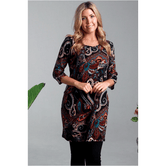 Boho Winter Tunic Dark Print 12