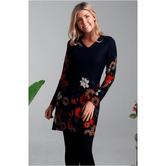 Boho Winter Tunic Daisy Print 10