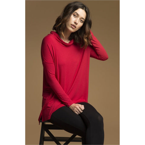 Bamboo body - Red Rowena Cowl Tunic