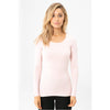 Bamboo Long sleeve layering top Palepink