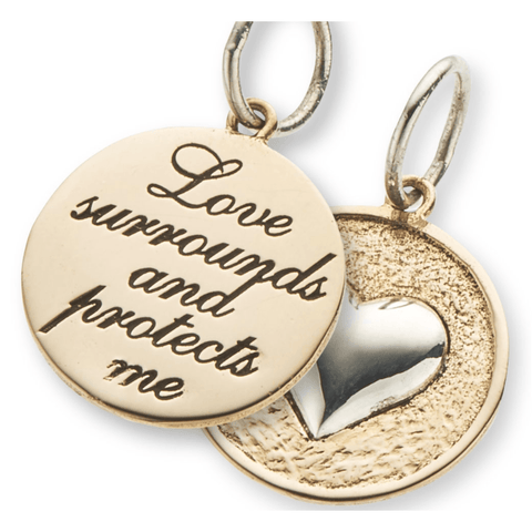 Palas Slv+brz love surrounds double sided charm