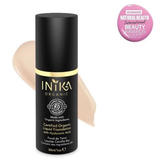 Inika Certified Organic Liquid Foundation with Hyaluronic Acid - Total Wellness & Secret Wishes