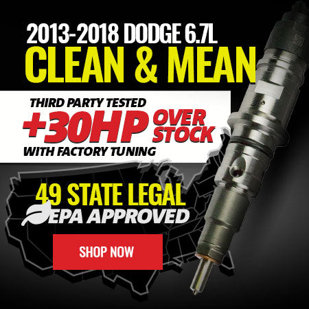 2013-2018 Dodge 6.7L Performance Plus Injectors - +30 Over Stock, 49 State Legal