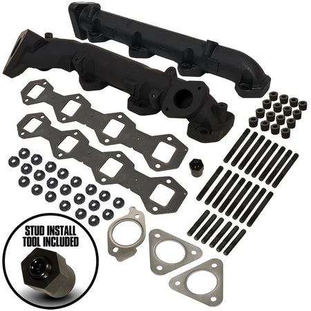 6.7L Powerstroke Exhaust Manifold Kit - Ford 2015-2019 F250 / F350 Pick-Up & 2017-2019 F350 / F450 / F550 Cab-Chassis