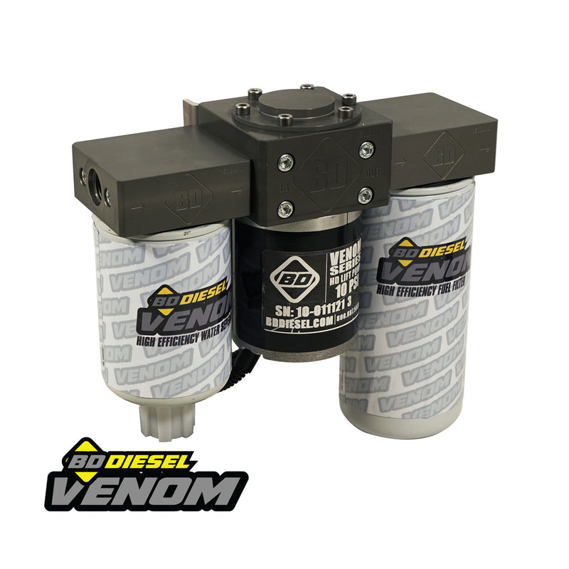 Venom Duramax Fuel Lift Pump c/w Filter & Separator - Chevy 2001-2010 6.6L