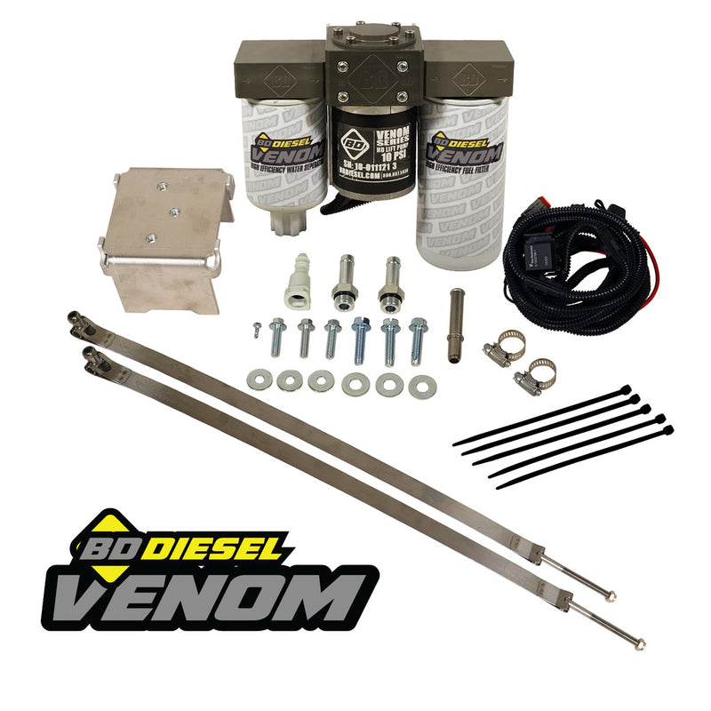 Venom Duramax Fuel Lift Pump c/w Filter & Separator - Chevy 2011-2016 6.6L