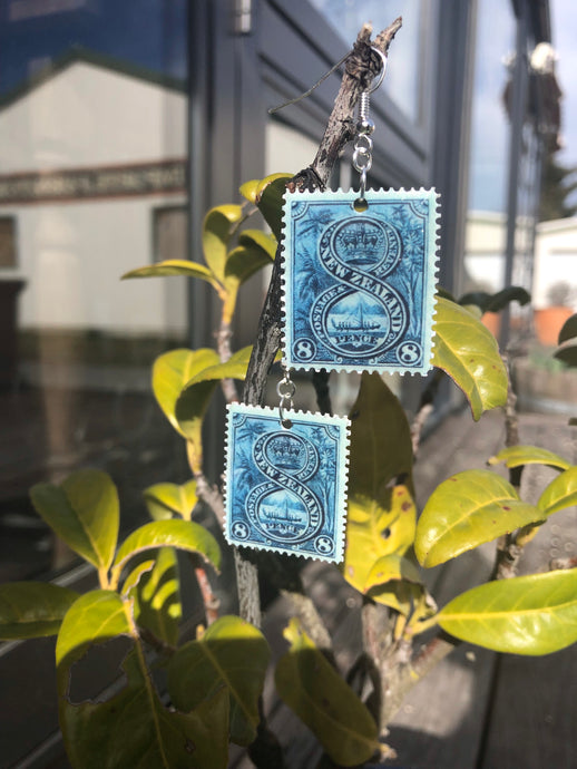 New Zealand Stamp Earrings