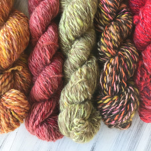 New Zealand wool Hand dyed and Spun Yarn
