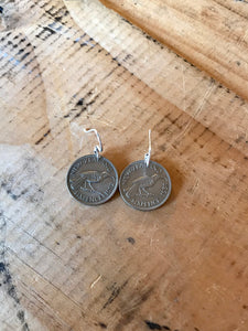 Sixpence Coin Earrings