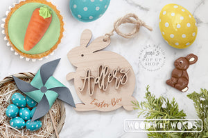 Easter Box Wooden Bunny