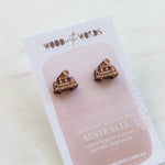 Ice Cream Truck Wooden Stud Earrings - Wood With Words