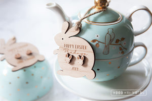 Easter Earrings + Personalised Ornament Combo