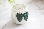 Villa No 1 - Monstera Dangle Earrings - Wood With Words